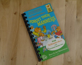 Handmade The Berenstain Bears Forget Thier Manners 1989 Re-purposed VHS Cover Notebook Journal