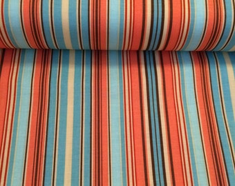 Belle Oxford Stripe fabric in Blue by Amy Butler