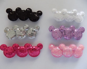 Sequin Mickey Mouse Barrette - Multiple Colors Available