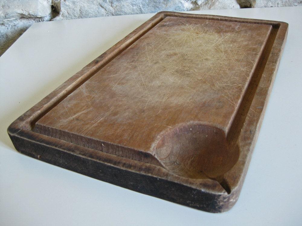 franz sische schneidebrett vintage holz hackstock f r fleisch. Black Bedroom Furniture Sets. Home Design Ideas