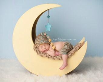 Moon Prop, Moon Photo Prop, Wood Moon, The Original Newborn Photography Prop Moon, Newborn Prop, Baby Prop