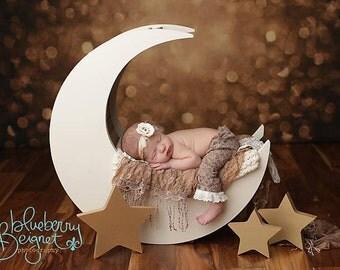 Moon Prop, Moon Photo Prop, Newborn Photography Prop, Baby Moon Prop