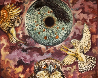 GAZE original acrylic painting on canvas