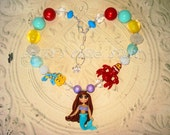 Mermaid theme inspired Chunky Bead Necklace