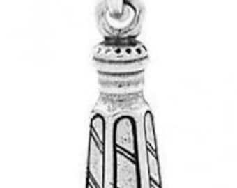 Sterling Silver Salt or Pepper Shaker Charm Pendant (3D Charm)