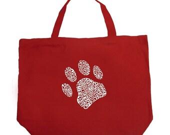 Large Tote Bag - Dog Paw