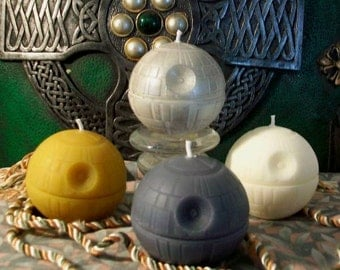Death Star Beeswax Candle