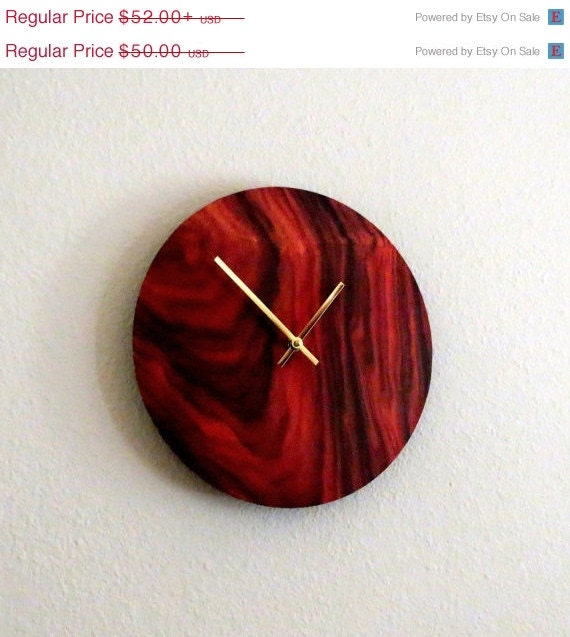 Sale items holiday sale rustic wall clock unique by Unique clocks for sale