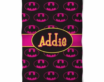 Personalized BatGirl Fleece Blanket