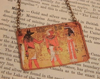 Egypt necklace King Tut Egyptian jewelry Ancient Egypt mixed media jewelry
