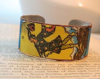 Tarot bracelet tarot jewelry The Fool tarot mixed media jewelry