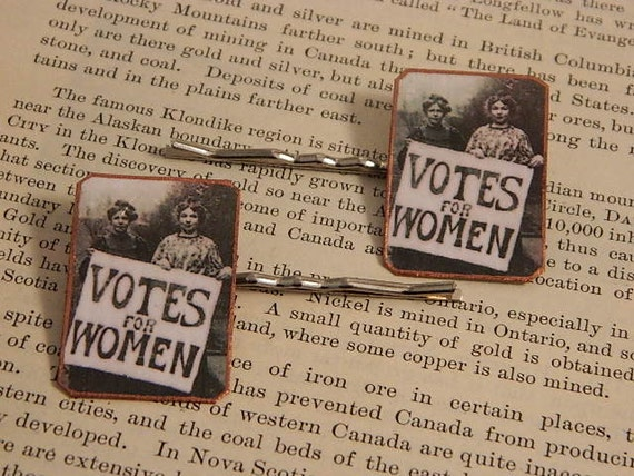 Feminist jewelry Bobby Pins Hair Accessory Votes for Women