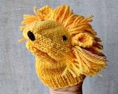 handpuppet LION knitting pattern PDF