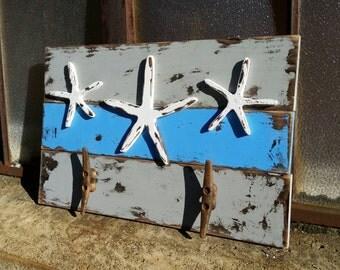 Weathered Starfish Rack