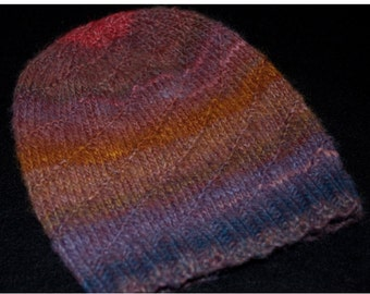 Hand Knit Twisted Hat