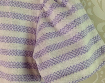 vintage lilac and white striped little girls top with puff sleeves size 4T