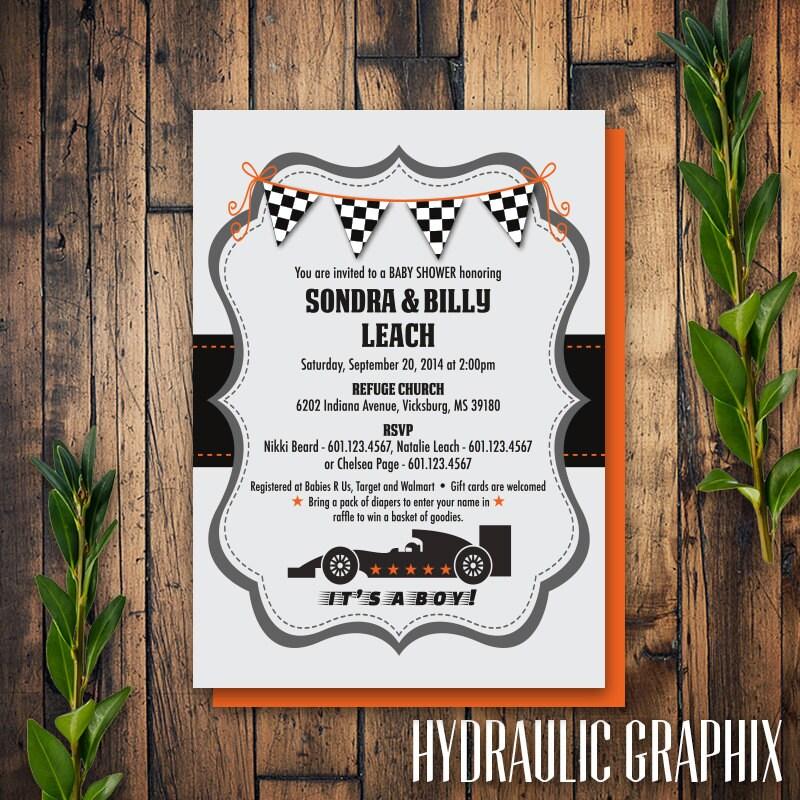 printable race car baby shower invitation printable baby