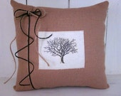 SALE  HALF PRICE!! Shabby chic  pillow, decorative pillows,  farmhouse decor, trees pillows, home decor, paisley pillow, accent pillows