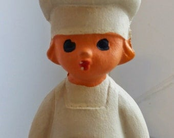 cook, chef - old vintage soviet rubber toy. Made in the USSR in about 1970.