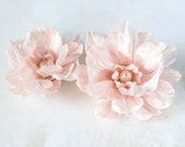 Floral hair accessories, Pink hair flower, Flowers for hair, Hair clip flower, Floral accessories, Hair flower, Fabric flower hair clips.