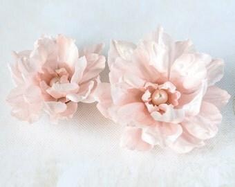 71411_Floral hair accessories, Pink hair flower, Flowers for hair, Hair clip flower, Floral accessories, Hair flower, Fabric hair clips