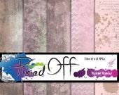 Creative Staples - Mixed Media Heart BGs - Five 12x12 Instant Download Digital Art Journal Scrapbook Sheets