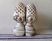 Large Vintage Pinecone Bookends