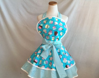 apron in cupcakes diner retro fifties style