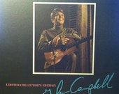 Vintage Vinyl Glen Campbell Limited Collector's Edition Record Album LP, Souvenir Book, and Poster