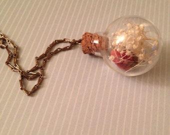 Rose Bud Jar Necklace