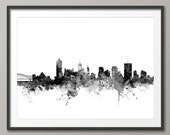 Memphis Skyline, Memphis Tennessee Cityscape Art Print (1816)