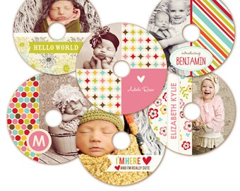 Instant download - CD/DVD Label templates - Bright Cd Labels -  E316