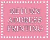 Return Address Printing - Mailer Envelope