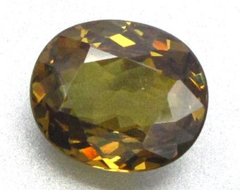 2.35 ct Natural Real Andradite Demantoid Garnet Honey Unheated
