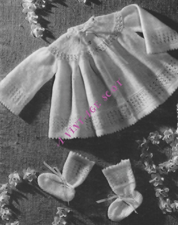 2 Ply Knitting Patterns : Baby 2 ply / Lace Christening Shawl Matinee Jacket and