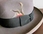 Vintage STETSON Royal De Luxe - HOMBURG Hat - Size 7 1/8