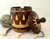 Sunburst Yarn Lidded Yarn Bowl KB82
