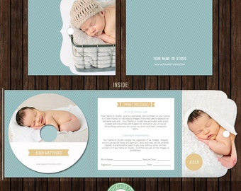 CD/DVD Label and Luxe Cover with Print Release and Alternate Inside - Psd Template - D29