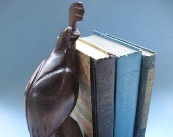 Vintage Carved Ironwood Quail Figurine Bookend