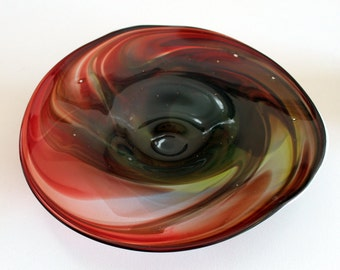 Hand Blown-Glass Platter-Wall Art