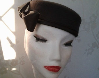 Wool Pillbox Hat - Pewter Grey
