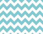 "Fabric-Riley Blake Chevron Medium Aqua 1 yard-wide fabric 58"""