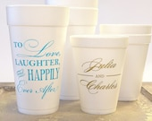 Personalized Styrofoam Party Cups