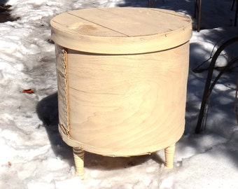 Cheesebox Table, Shabby Cottage Table, Bentwood Table, White End Table, Shaker Box Table, White Painted Furniture, French Country Furniture