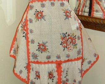 Vintage hankie half apron like new