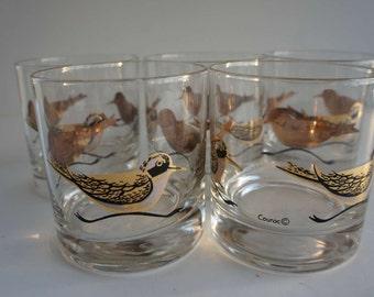 Vintage Couroc Low Ball Glasses Vintage Barware Mid Century Modern
