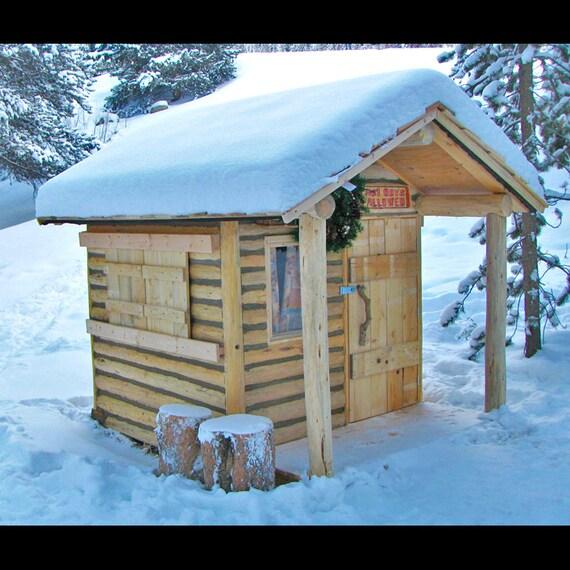 Cabin Decor Log Cabin Playhouse Log Furnishing By Woodzwayz