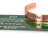 Graduation gift 2016, SOAR Isaiah 40:31 Copper Cuff, Eagle Scout, Graduation, Scripture jewelry, Religious jewelry, Eagles Wings