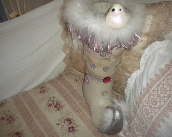 Altered Shabby Chic Boot, French Country, Christmas,Baby's Room
