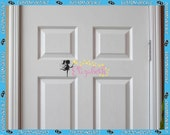 Personalize Fairy and Stars Bedroom Door Sign Vinyl Decal